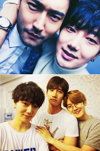 Super Junior Members Bid Farewell to TVXQs Changmin and Choi Siwon