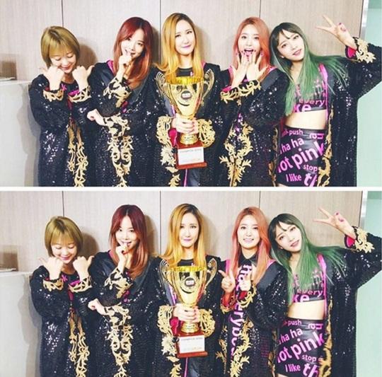 EXID Show Champion win