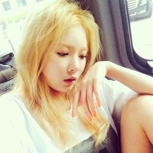 Hyuna Instagram Blonde
