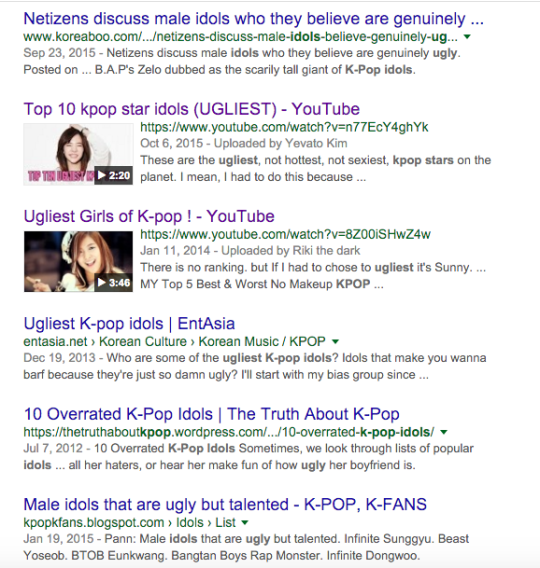 Ugly Google Search