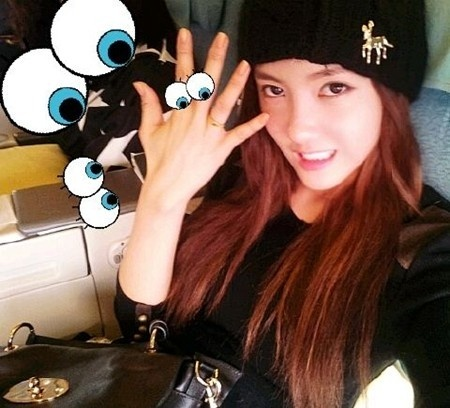 Hyomin's winning prize from Running Man.