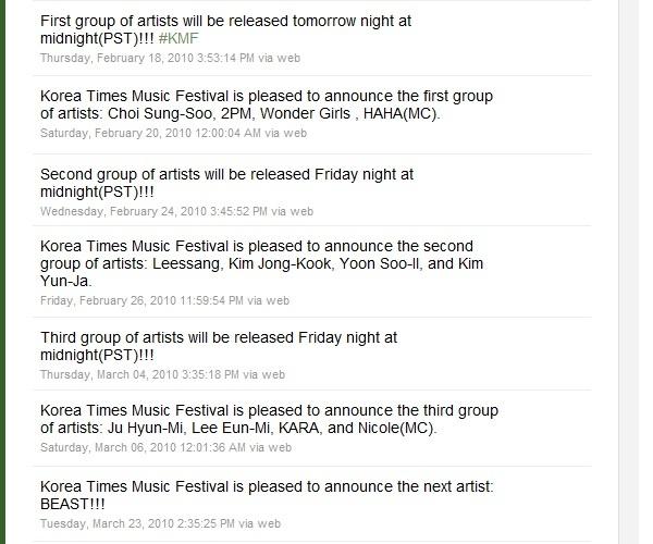 Korea Times twitter