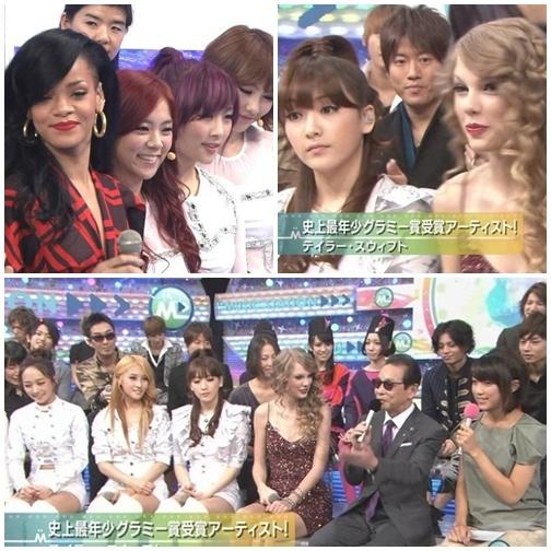 Kara, Rihanna and Taylor Swift