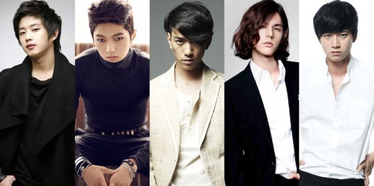 From left: Kim Min Suk, L, Sung Joon, Lee Hyun Jae, Yoo Min Kyu