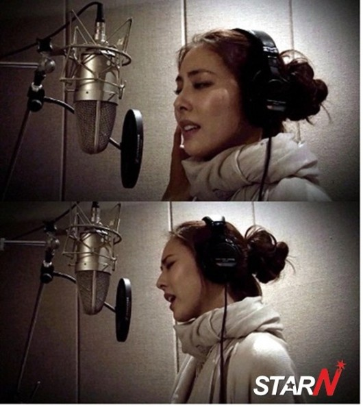 Park Jiyoon recording for the