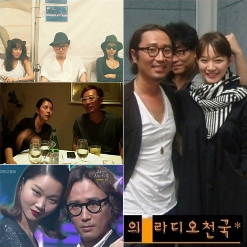 Jung Jae Hyung and his female celebrity friends.