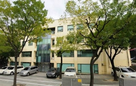 SM Entertainment's building looks like a regular office building.
