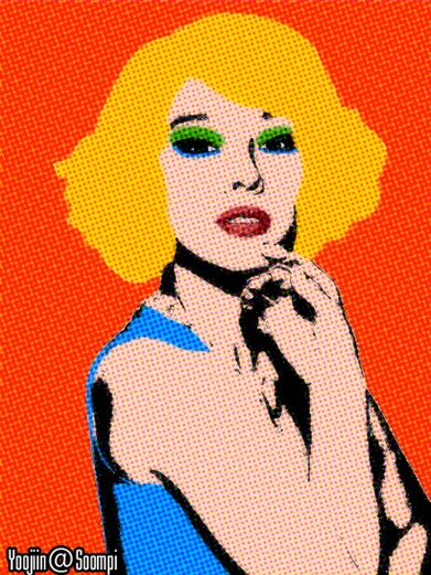 Lee Hyori Pop Art Style by me