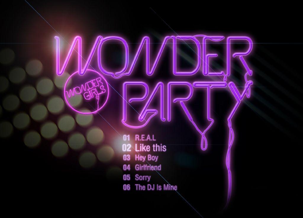 """Wonder Girls """"Wonder Party"""" Track List"""