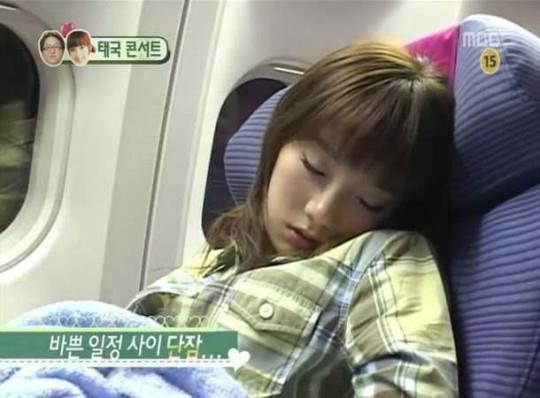 121019 sleeping 7 taeyeon we got married