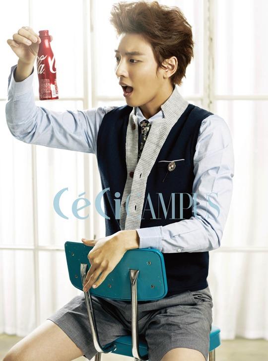 Yoon Shi Yoon Displays Boyish Charm For Quot Ceci Campus Quot Soompi