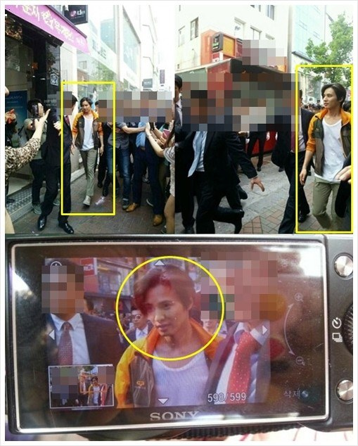 Won Bin captured on streets
