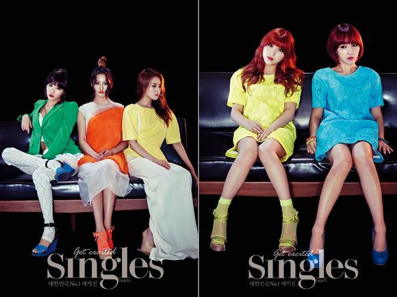 "4minute Looks Sexy for ""Singles"""