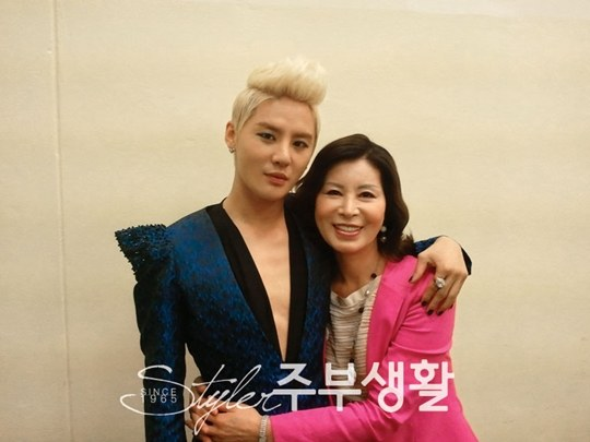 junsu and mother 062813