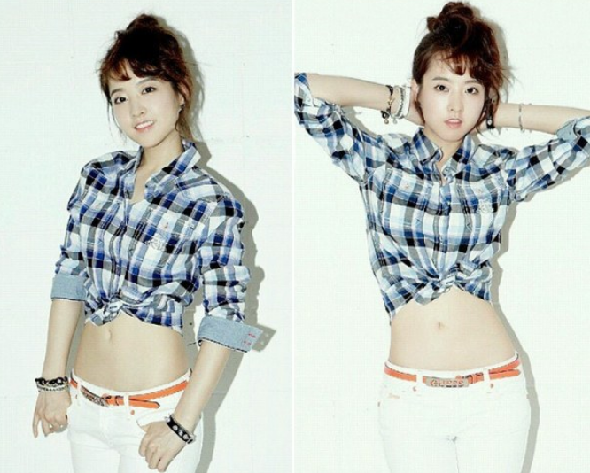Park Bo Young Shows Off Her Adorable Flat Tummy Soompi