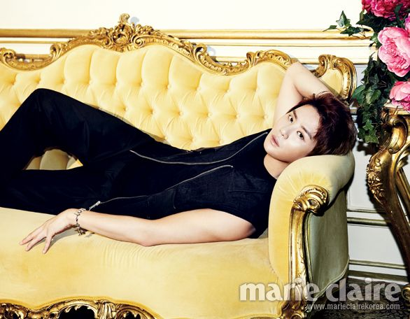 "Say Good-Bye to July with Junsu's Photo Shoot for ""Marie Claire"""