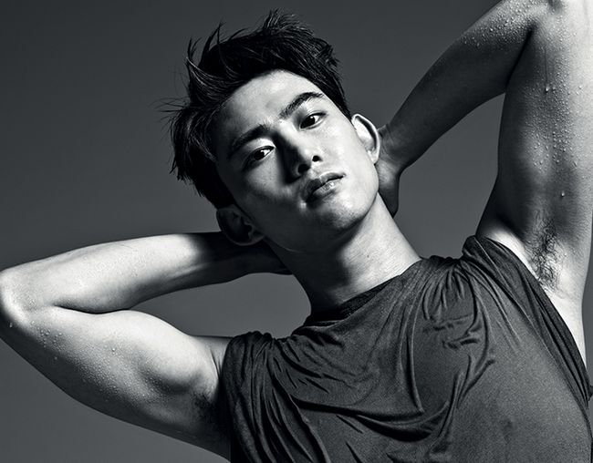 """Taecyeon Bares His Form While Still Covered Up in """"1st Look"""" Photo Shoot"""