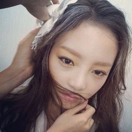 goo hara instagram white hair