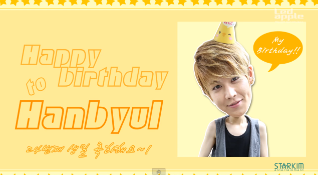 led apple hanbyul birhtday