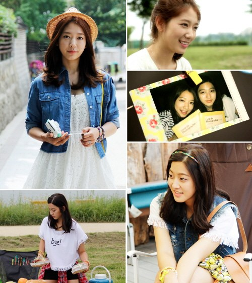 park shin hye and park se young camping
