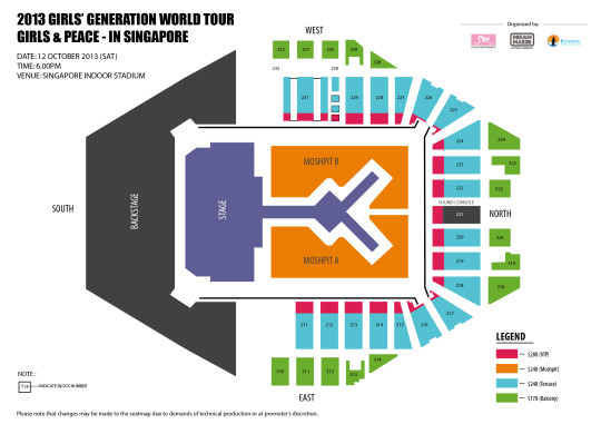 Girls' Generation Seatmap