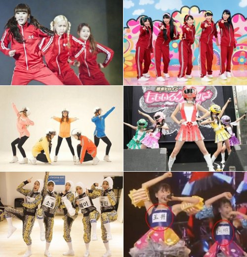 Crayon Pop (left) vs. Momoiro Clover Z (right)