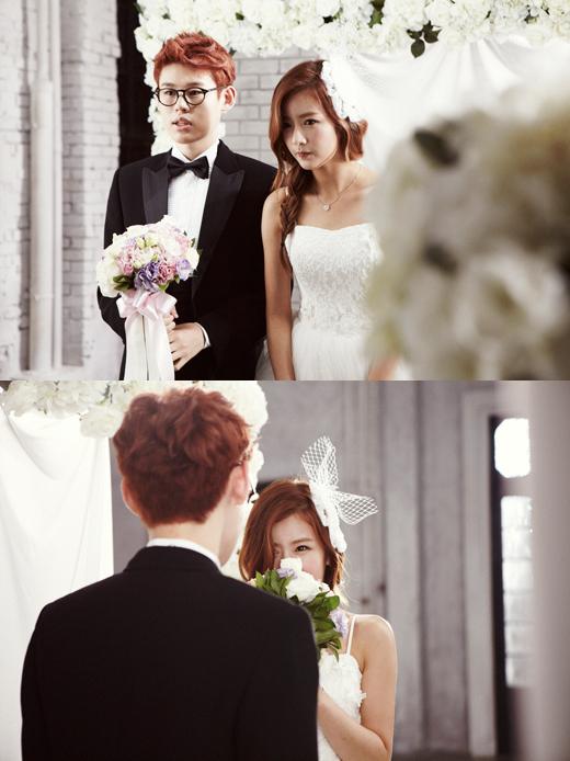 khunter_yoonbomi_wedding_look