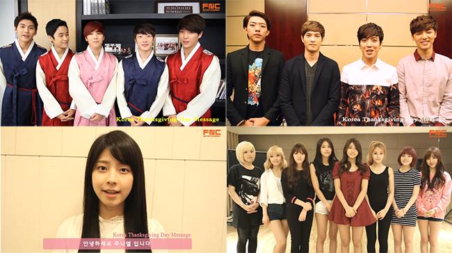 FTISLAND, CNBLUE, Juniel and AOA Give Their Chuseok Greetings