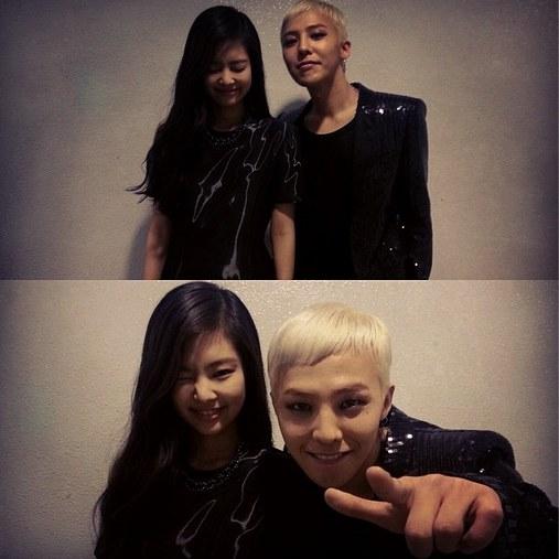 Jennie Kim and G-Dragon