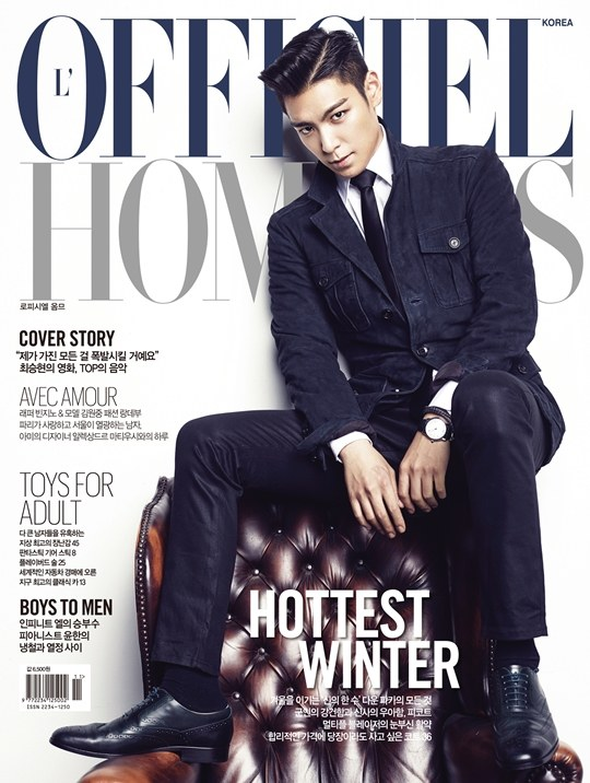TOP's pictorial for L'Officiel Hommes