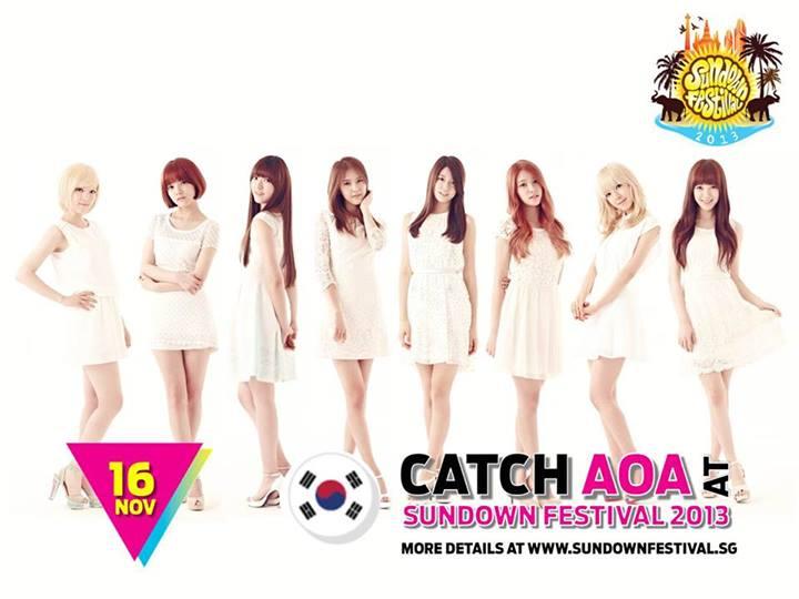 AOA Sundown Festival 2013 Singapore