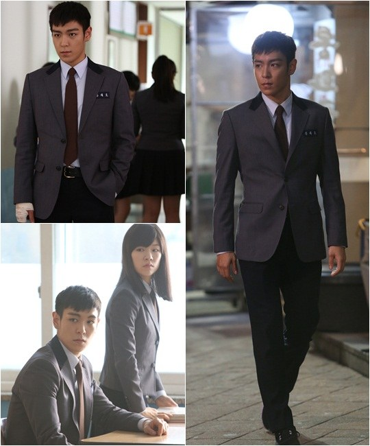 T.O.P. and Han Ye Ri School Fashion