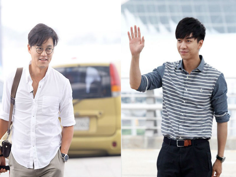 **Lee Seung gi and Lee Seo Jin airport