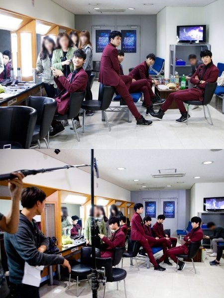 VIXX filming for The Heirs