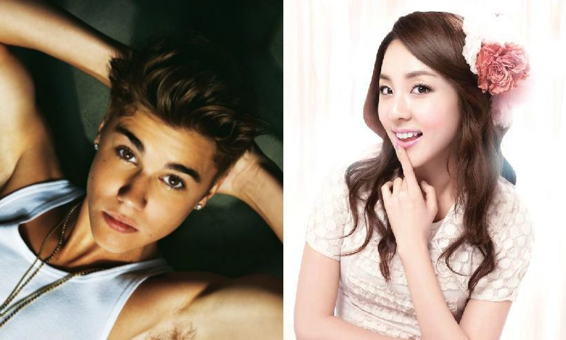 Justin Bieber Gives 2NE1's Sandara Park a Sweet Kiss at a ...