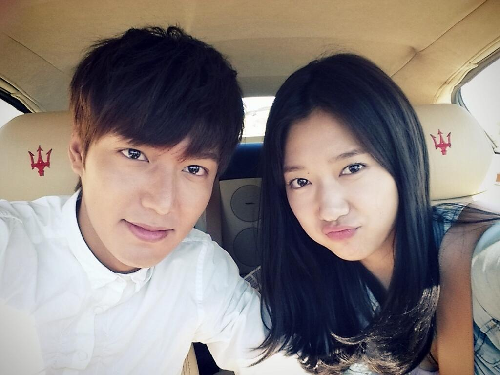Lee Min Ho and Park Shin Hye