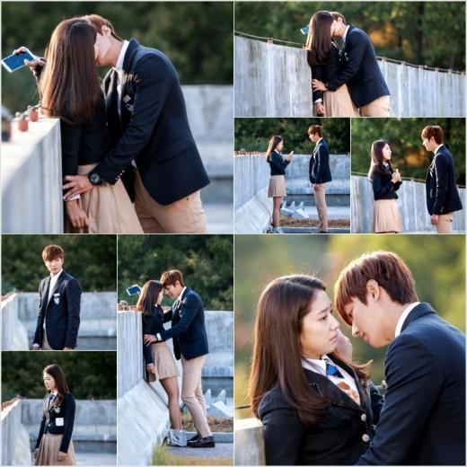 the heirs lee min ho park shin hye kiss