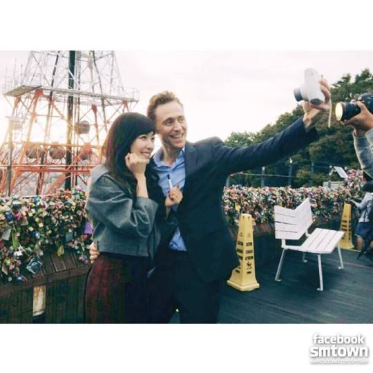 Tom Hiddleston and Tiffany of Girl's Generation