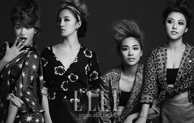miss a is featured in a chic pictorial for elle korea magazine soompi. Black Bedroom Furniture Sets. Home Design Ideas