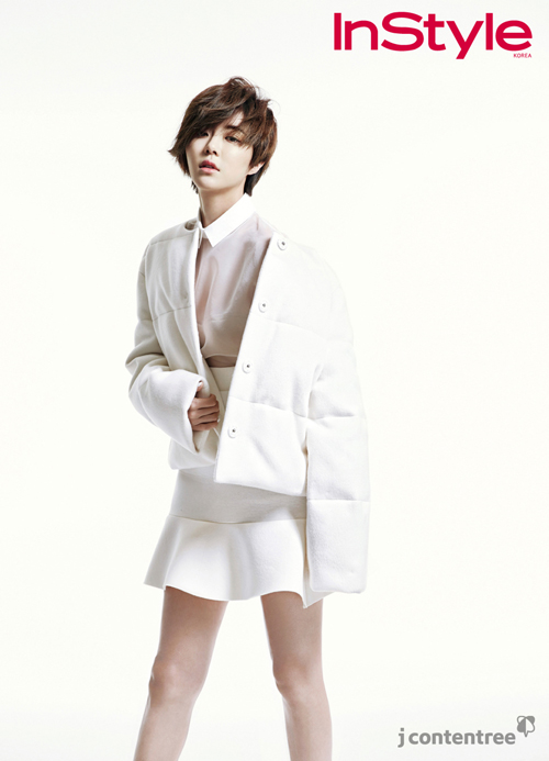 Park Han Byul Models Her New Hair Style And An All White