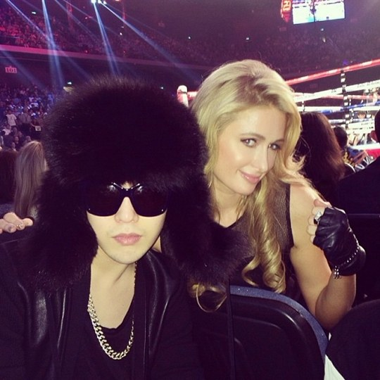 paris hilton g-dragon boxing