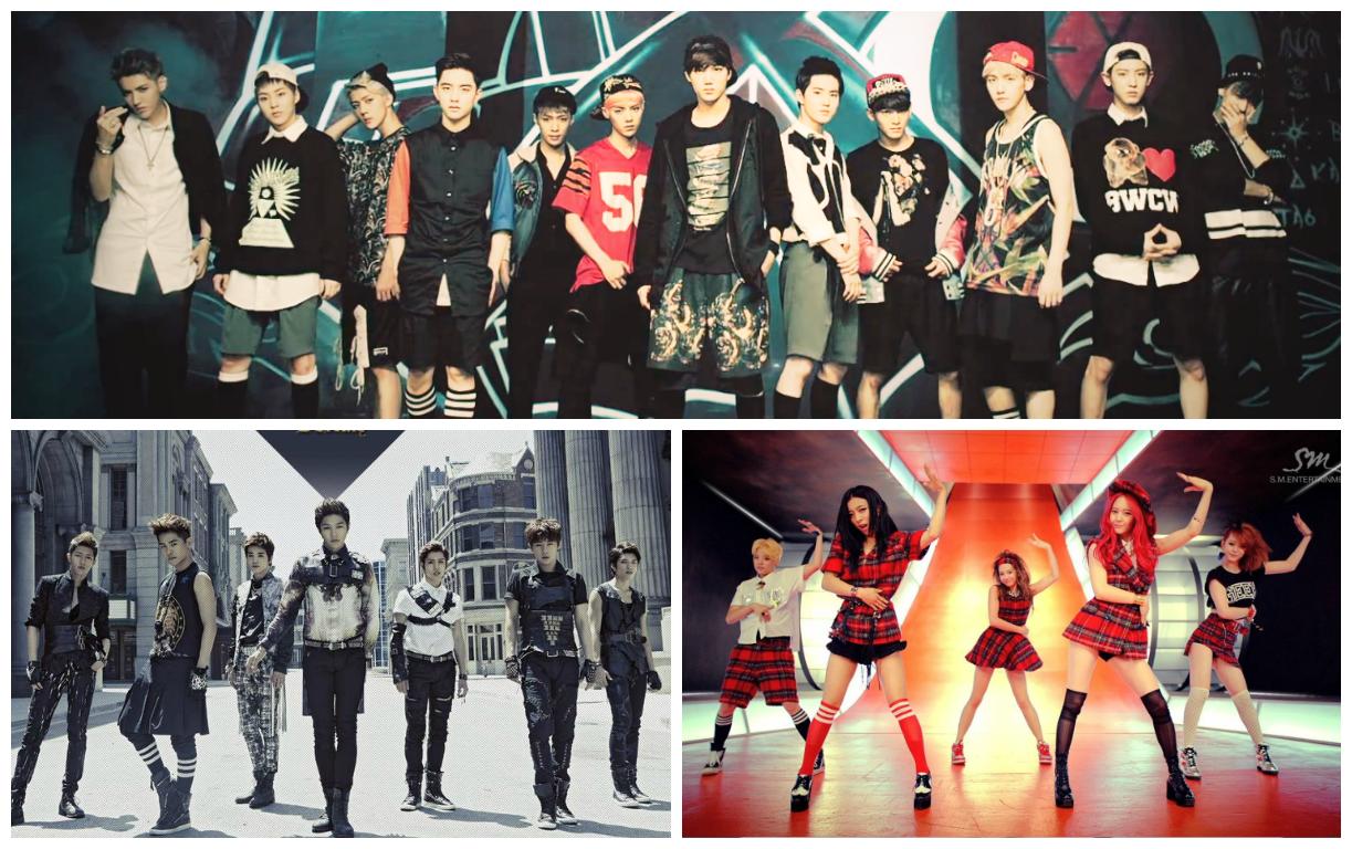 EXO, f(x) and Infinite