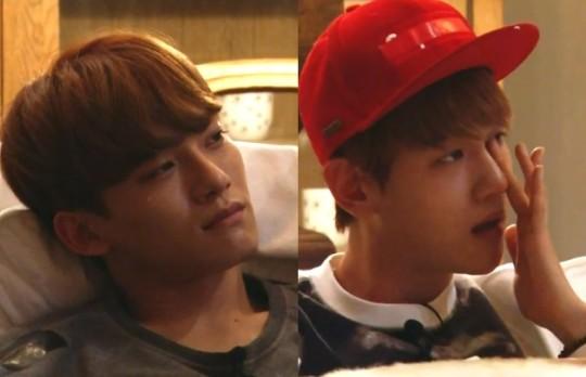 chen baekyun tears
