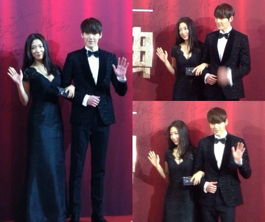 """The Heirs"" Couple Park Shin Hye and Kim Woo Bin Win ... Park Shin Hye And Kim Woo Bin Hug"