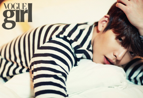 """Kim Woo Bin Talks """"The Heirs"""" and Learning How to Sing in Vogue Girl"""