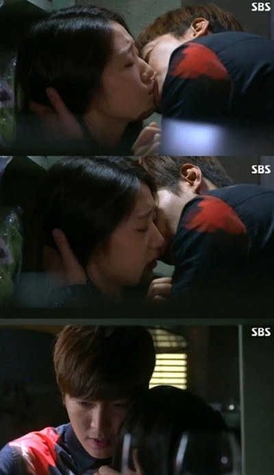 lee min ho talks about his passionate kiss scene with park