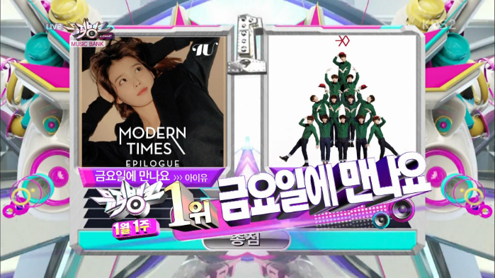 "IU - ""Friday"" wins Music Bank"