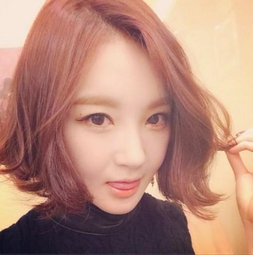 Kang Min Kyung's new haircut