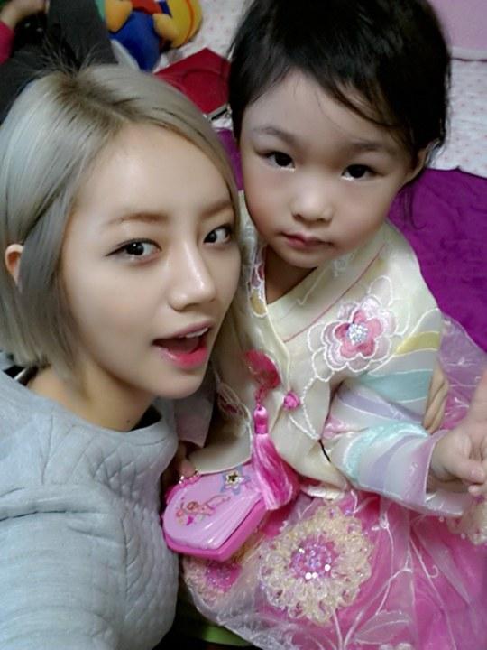 girl's day hyeri niece