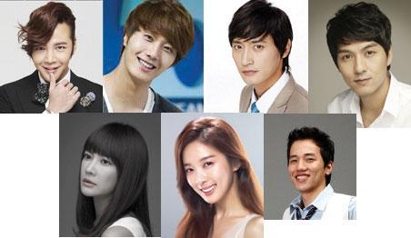 Left to right, top to bottom: Jang Geun Suk, Jung Il Woo, Won Ki Joon, Lee Pil Mo, Yang Mi Ra, Lee Chung Ah, Noh Hyung Wook